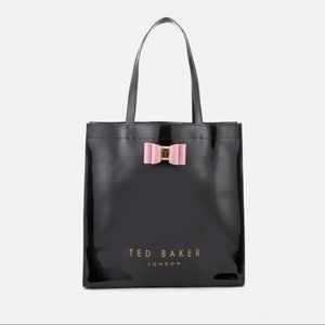 Ted Baker Bags - Ted Baker Pink Patent Bow Detail Large Icon Tote